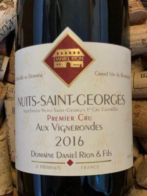 Daniel Rion Nuits Saint Georges Premier Cru Aux Vignerondes 2016