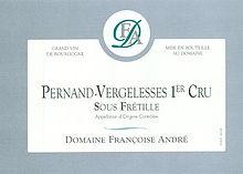 Francoise Andre Pernand Vergelesses 1 Cru Sous Fretille 2017