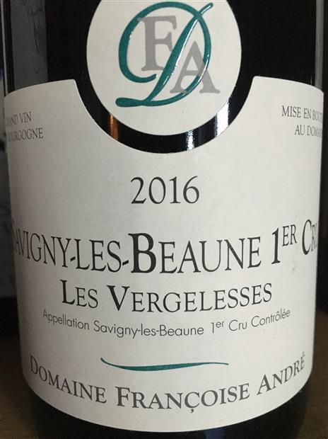Francoise Andre Savigny Les Beaune 1er Cru Vergelesses 2016