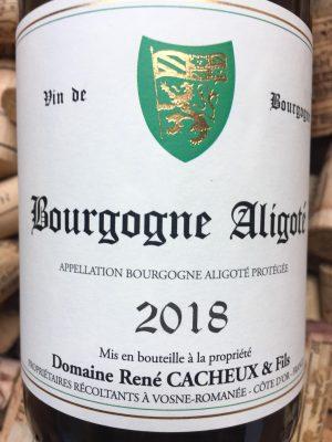 René Cacheux Bourgogne Aligoté 2018