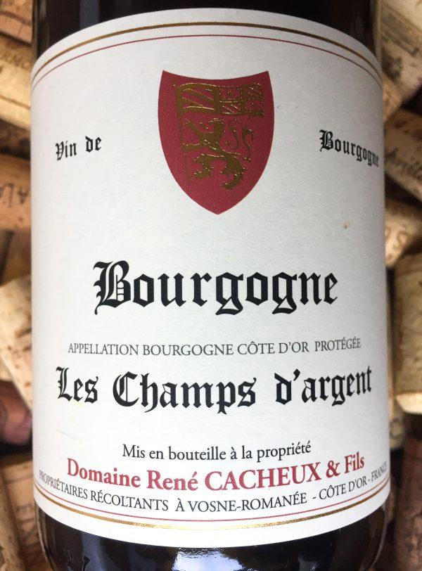 """René Cacheux Bourgogne Côte d'Or Rouge """"Les Champs Argent"""" 2017"""