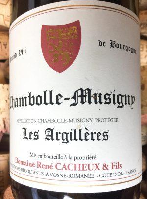 """René Cacheux Chambolle-Musigny """"Les Argillères"""" 2017"""