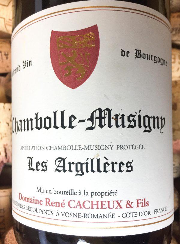 """René Cacheux Chambolle-Musigny """"Les Argillères"""" 2016"""