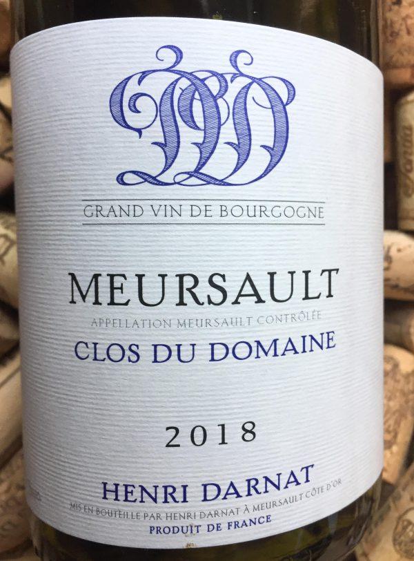 Henri Darnat Meursault Clos du Domaine Blanc 2018