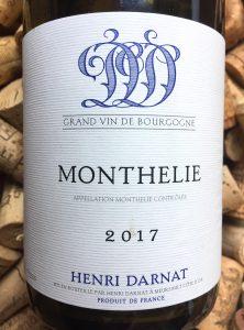 Henri Darnat Monthelie Blanc 2018