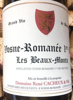 René Cacheux Vosne Romanée Premier Cru Les Beaux Monts 2017