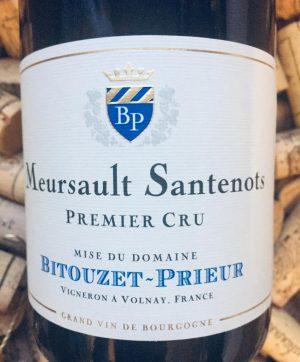 Bitouzet Prieur Meursault 1er Cru Santenots 2017