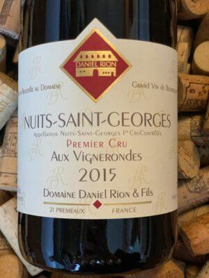 Daniel Rion Nuits Saint Georges Premier Cru Aux Vignerondes 2015