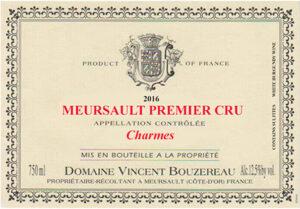 Vincent Bouzereau Meursault Premier Cru Charmes 2018