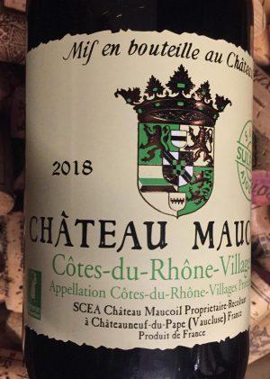 Chateau Maucoil Cote du Rhone Village Sana Soufre 2018