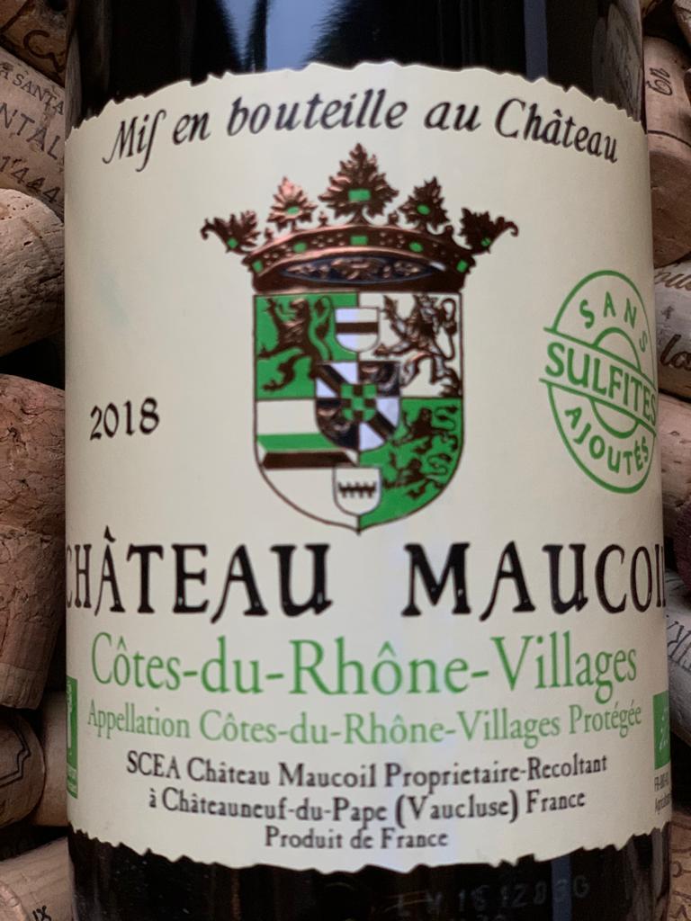 Chateau Maucoil Cotes du Rhone Villages Sans Soufre 2018