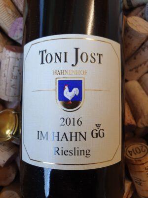 Toni Jost IM HAHN GG Riesling trocken Mittelrhein 2016