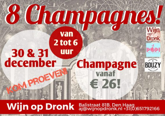 Champagne 30 & 31 december