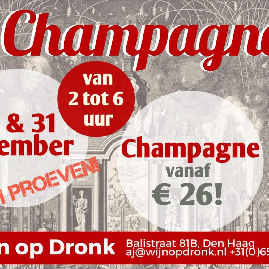 Champagne 30 & 31 december