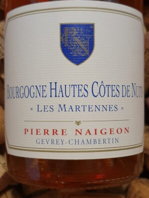 Pierre Naigeon Bourgogne Hautes Cotes de Nuits Blanc 2016 (Orange wine)