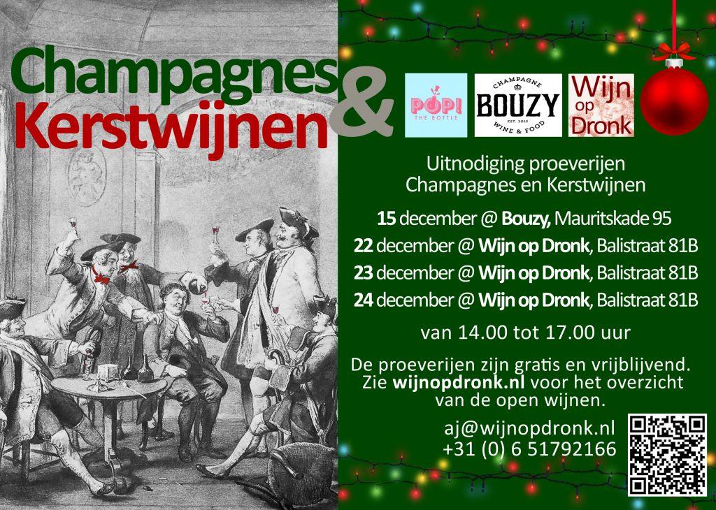 Kerstproeverijen Wijn op Dronk en Bouzy