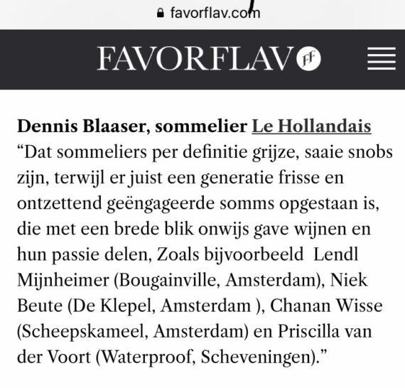 Dennis Blaaser, fris, geëngageerd, sommelier en Wijn op Dronk staff member in het nieuws!