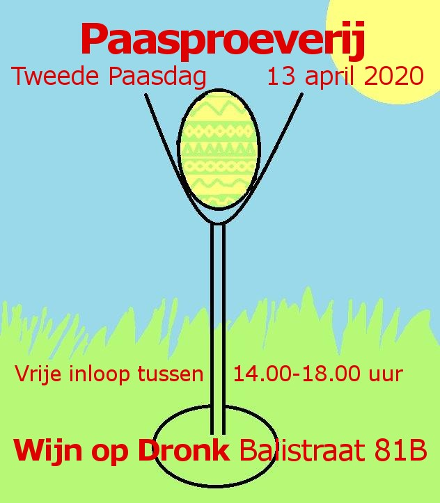 Save The Date: Paasproeverij Tweede Paasdag 13 april 2020