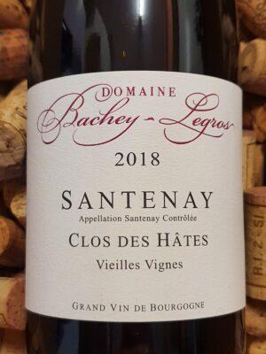Domaine Bachey Legros Santenay Clos des Hates Vieilles Vignes 2018