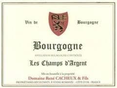 """René Cacheux Bourgogne Côte d'Or Rouge """"Les Champs Argent"""" 2018"""