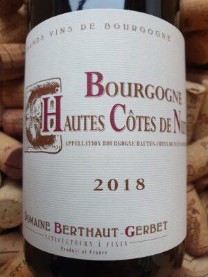 Domaine Berthaut-Gerbet Bourgogne Hautes-Côtes de Nuits 2018
