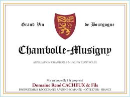 René Cacheux Chambolle Musigny Les aRGILLERES 2016
