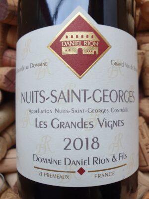 Daniel Rion Nuits Saint Georges Les Grandes Vignes 2018