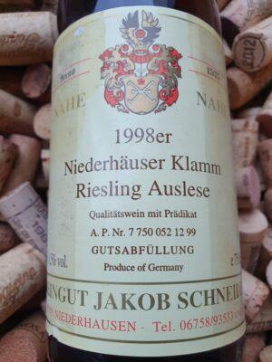 Jakob Schneider Riesling Auslese Niederhäuser Klamm 1998