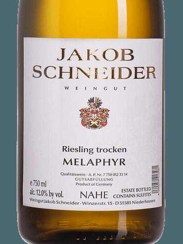 Jakob Schneider Riesling trocken Melaphyr Nahe 2017