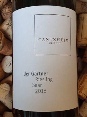 Weingut Cantzheim Riesling trocken Der Gärtner Saar 2018