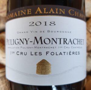 Alain Chavy Puligny Montrachet Premier Cru Les Folatieres 2018