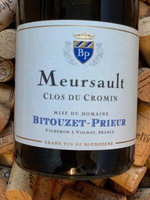 Bitouzet Prieur Meursault Clos du Cromin 2018