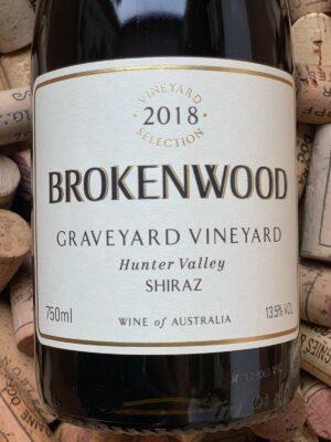 Brokenwood Graveyard Vineyard Shiraz Hunter Valley 2018