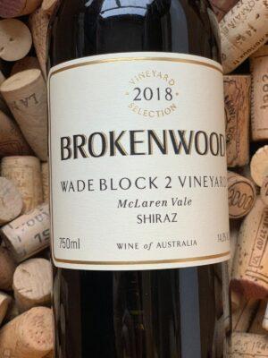 Brokenwood Shiraz McLaren Vale Wade Block 2 2018