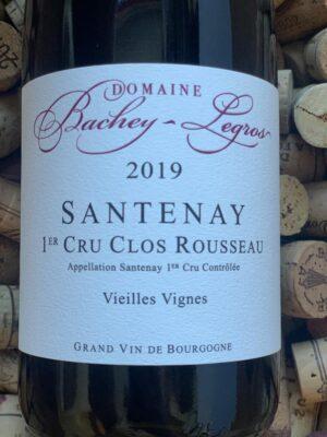 Bachey-Legros Santenay rouge Premier Cru Clos Rousseau 2019