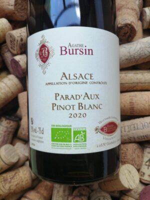 Agathe Bursin Pinot Blanc Parad'Aux Alsace 2020