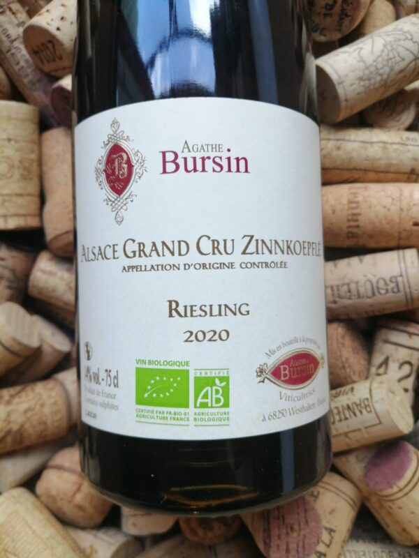 Agathe Bursin Riesling Grand Cru Zinnkoepflé Alsace 2020