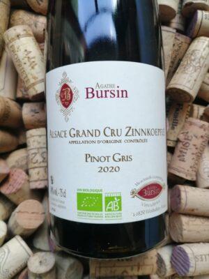 Agathe Bursin Pinot Gris Grand Cru Zinnkoepflé Alsace 2020