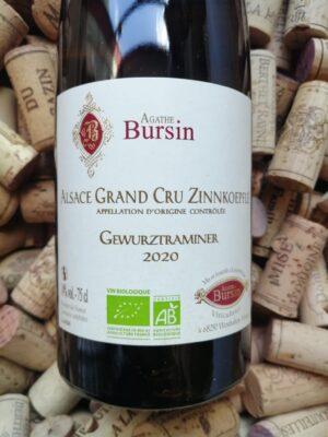 Agathe Bursin Gewurztraminer Grand Cru Zinnkoepflé Alsace 2020
