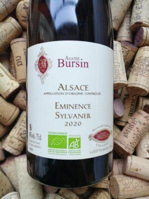 Agathe Bursin Sylvaner Eminence Alsace 2020